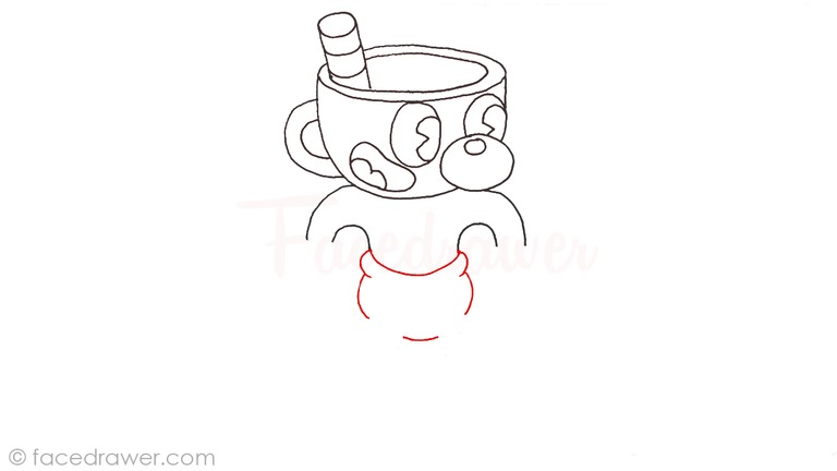 how to draw mugman cuphead step 9