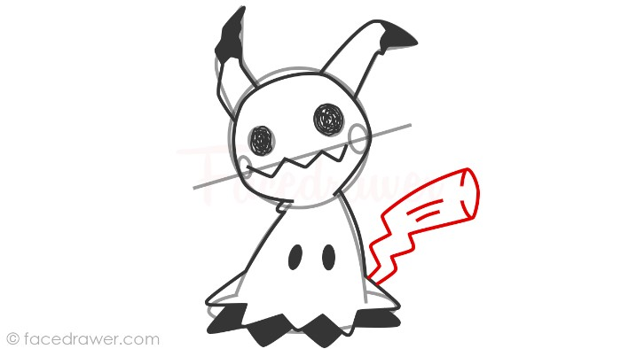 how to draw mimikyu step 11