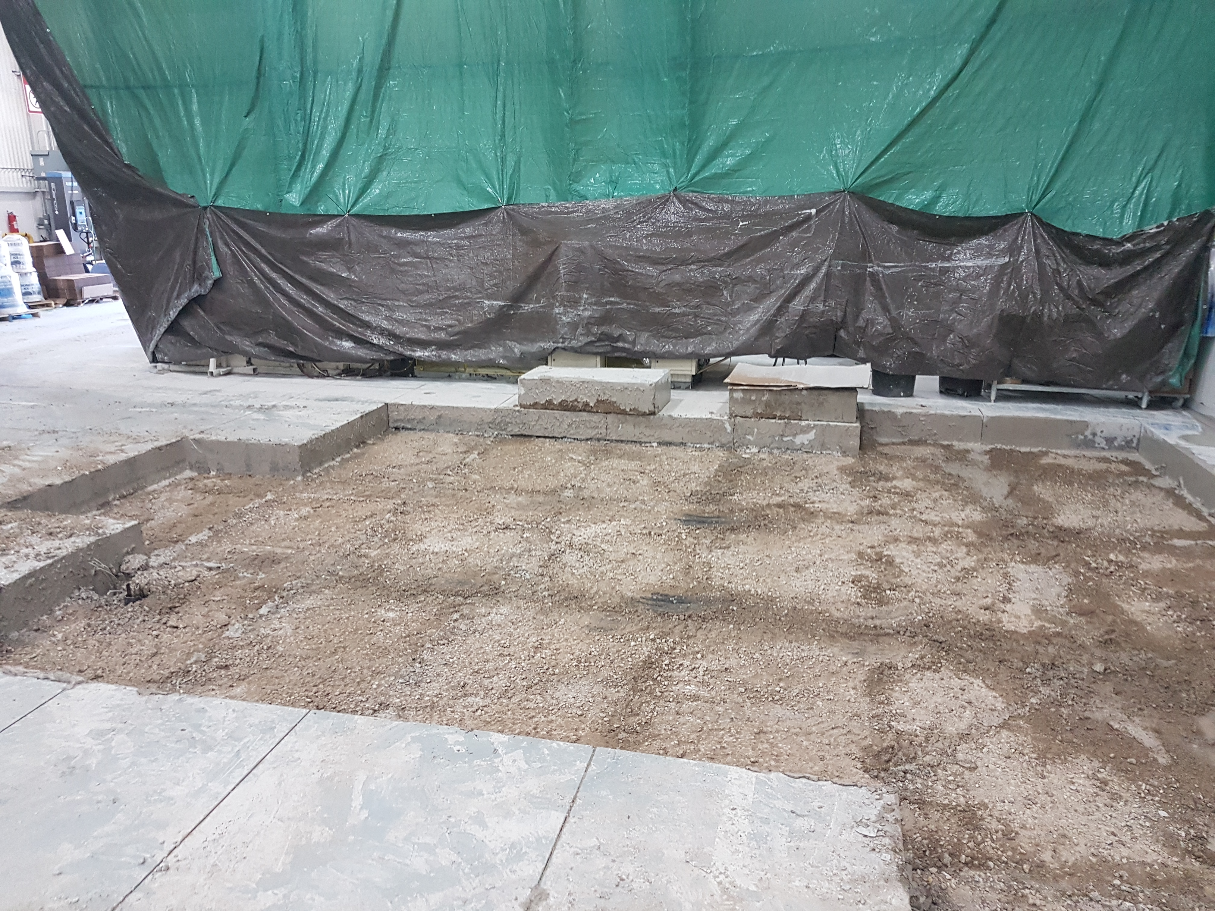 Concrete Machine Foundation Construction