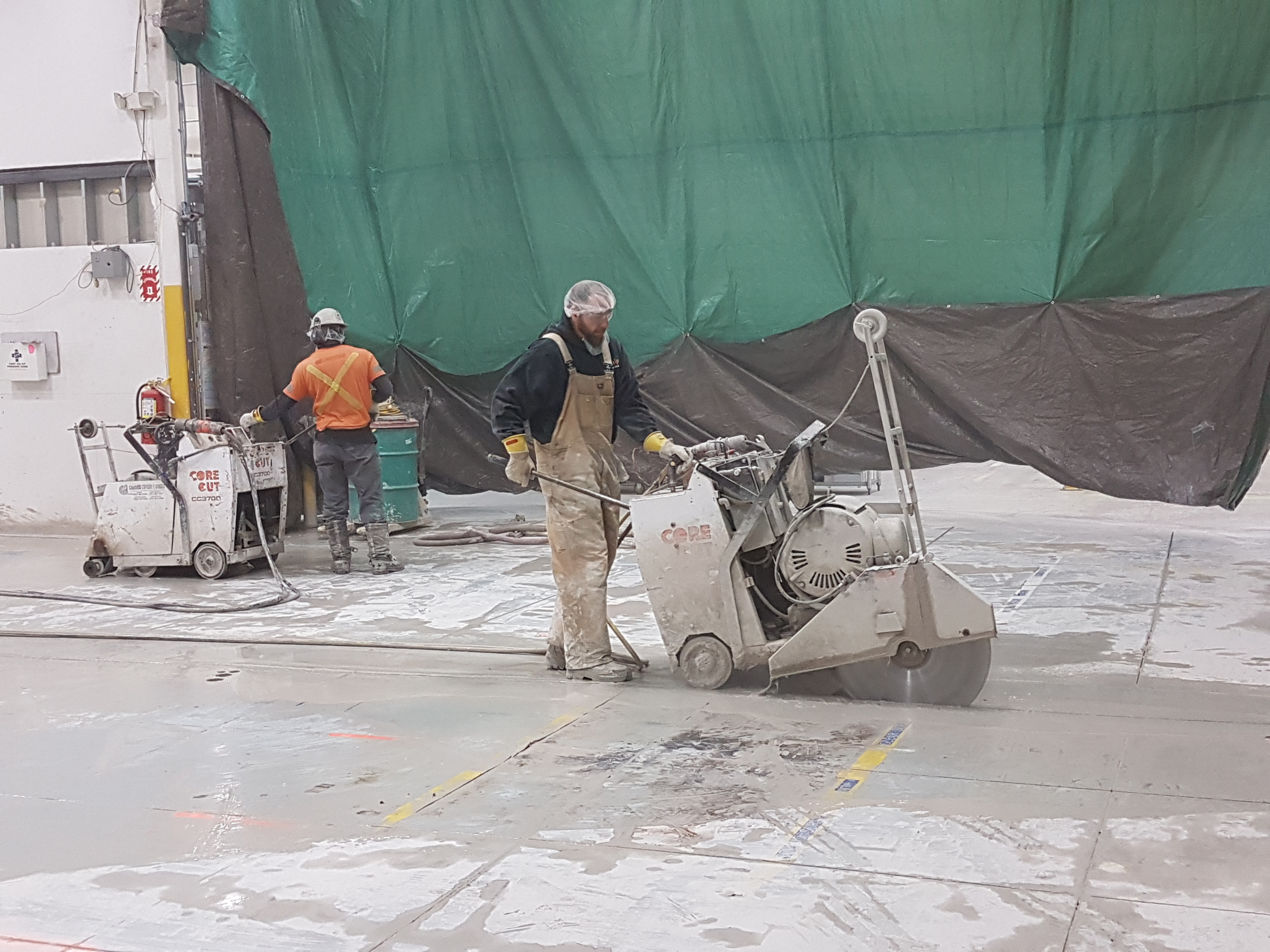 Concrete machine base contractor