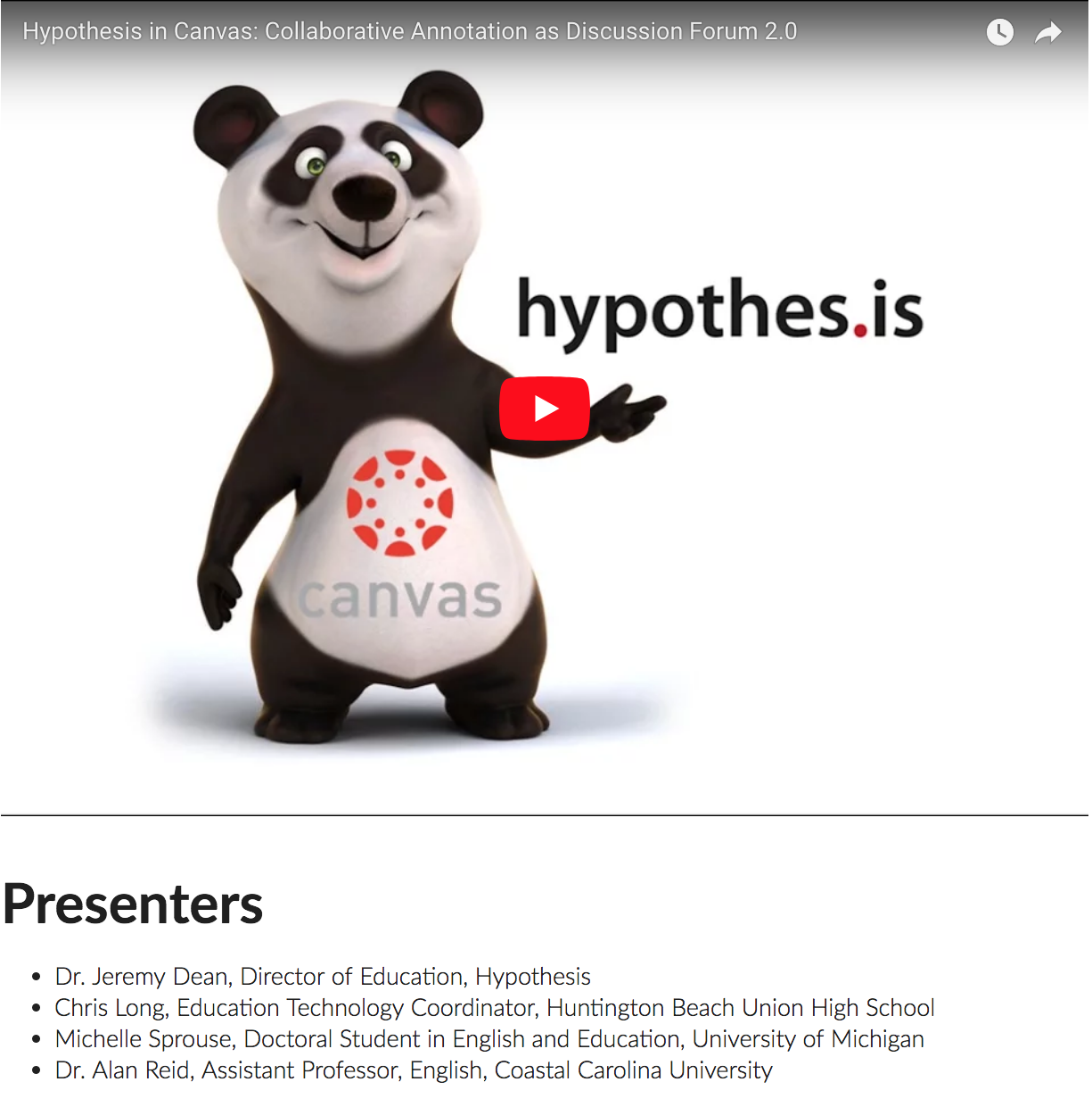 Collaborative annotation as discussion forum | Hypothesis Webinar