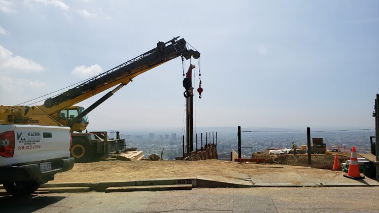 Drilling for caisson foundation