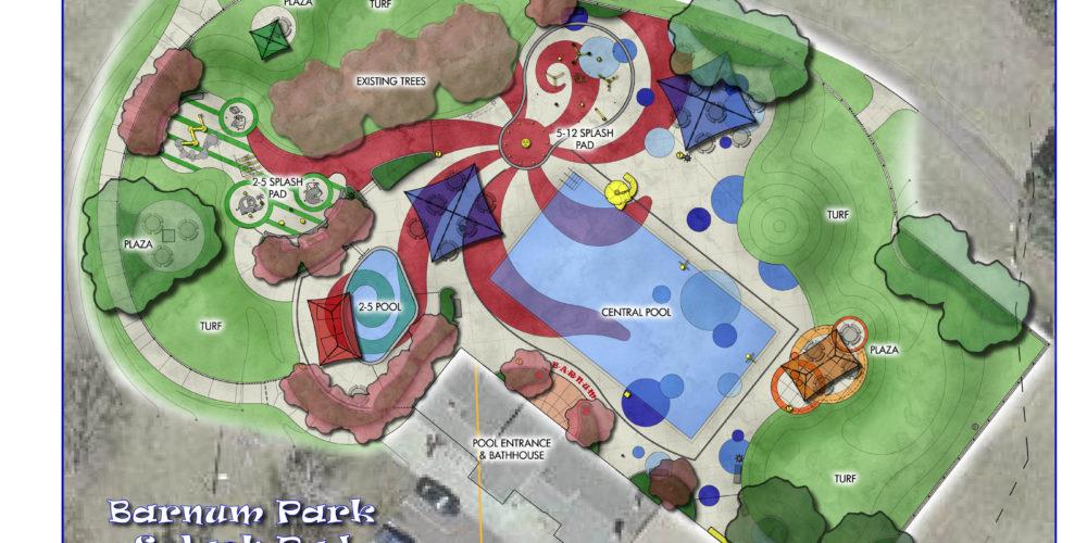 Barnum Park Splash Pad Masterplan