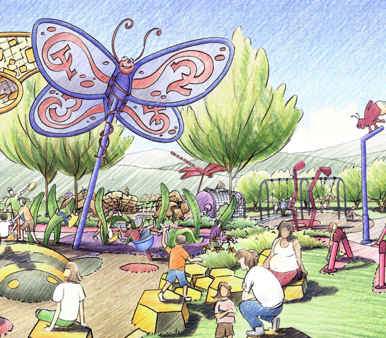 Buffalo Creek Park Playground Rendering