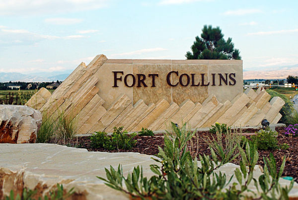 Fort Collins Entry Monument Sign - 392 Interchange