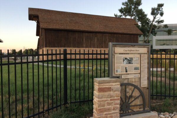 Coy Hoffman Barn - Interpretive Sign with Masonry