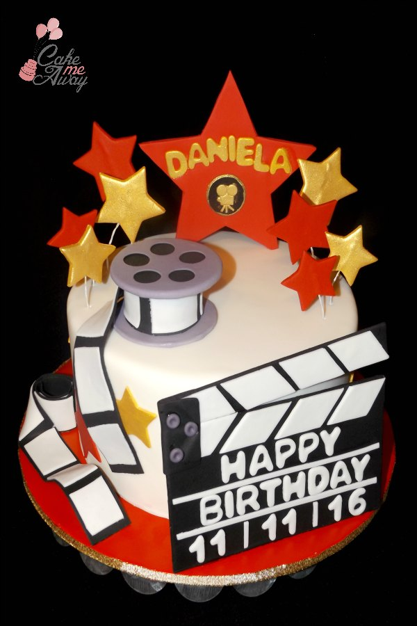 Hollywood Star Film Red Gold Cake