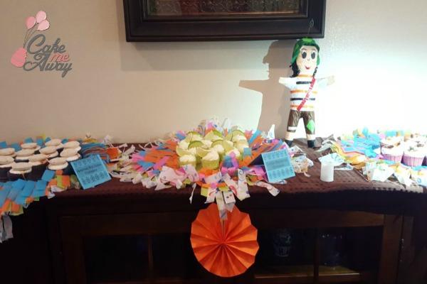Mexican Cupcake Table Setup