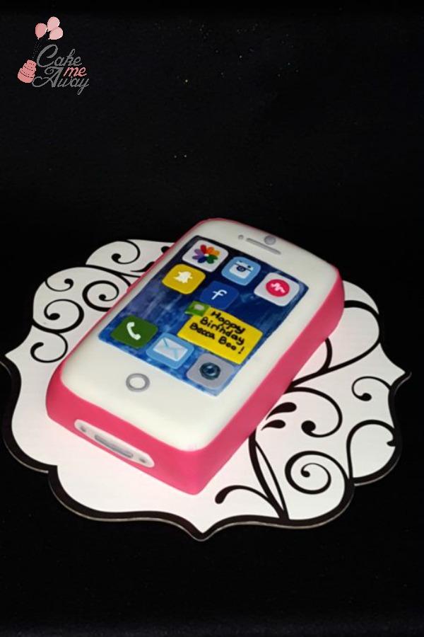 Phone iPhone Teen Birthday Cake