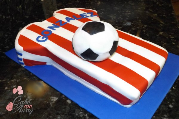 Soccer Jersey and Soccer Ball Birthday Cake