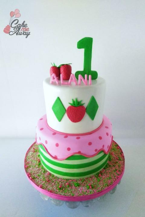 Strawberry Shortcake First Birthday Cake