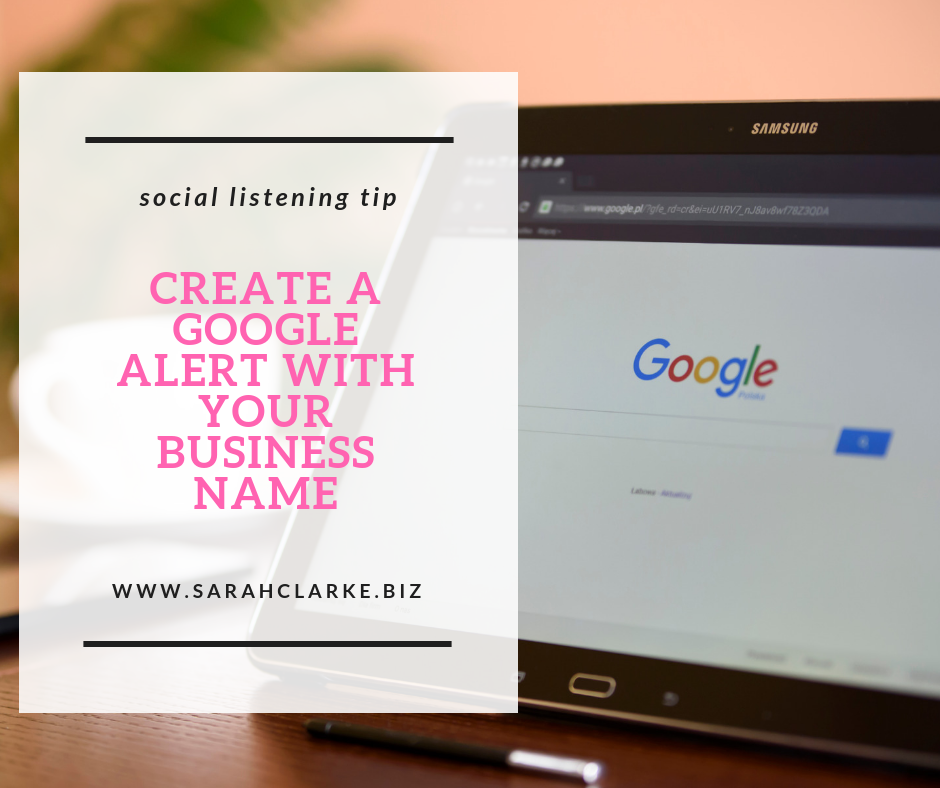 how to use google alerts for social listening about your business