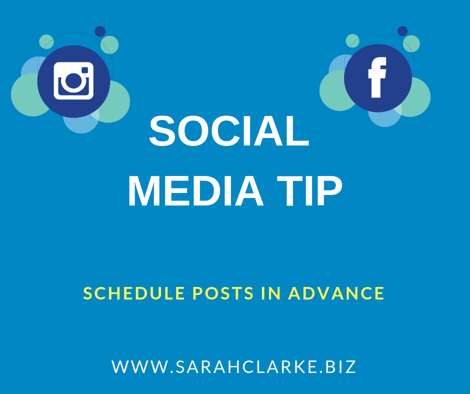 Social Media Tip: Schedule your Posts in Advance