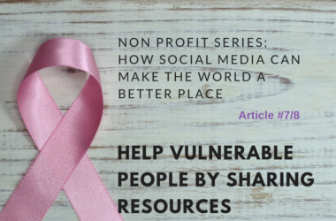 help vulnerable people by sharing resources
