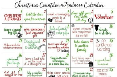 Christmas Kindness Avent Calendar
