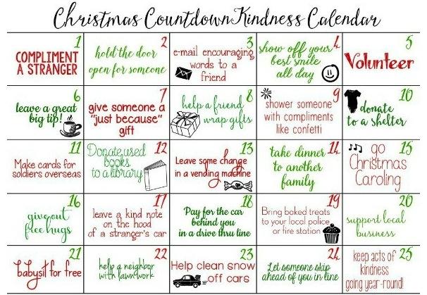 Christmas Kindness Avent Calendar