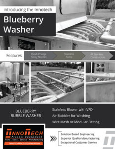 Blueberry Washer Line Card