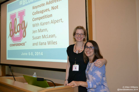 """""""Colleagues, Not Competition"""" keynote moderators: me and Nicole Leigh Shaw."""