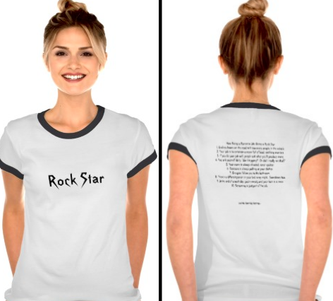 How being a parent is like being a rock star TEE by Kim bongiorno