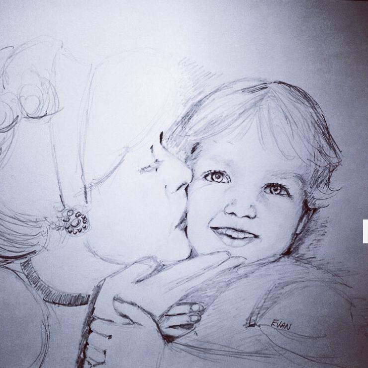 Portrait of Little Boy with Cinderella #portraitcommissions #commissionaportrait #haveyourportraitdone #childrensportrait