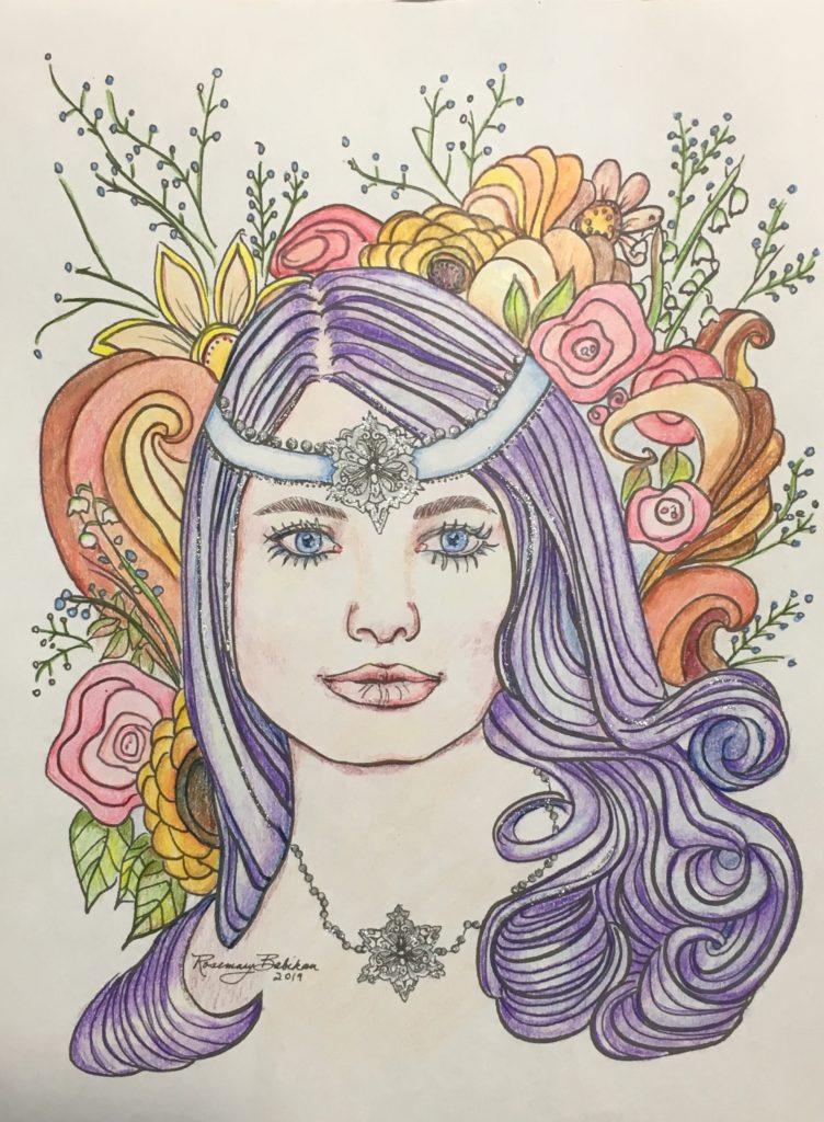 Adult coloring, Niki