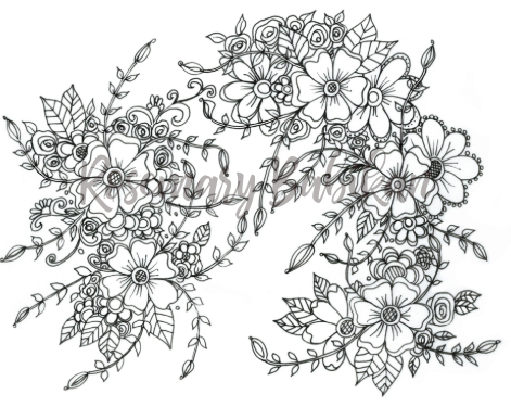 Adult Coloring Page of Flowers