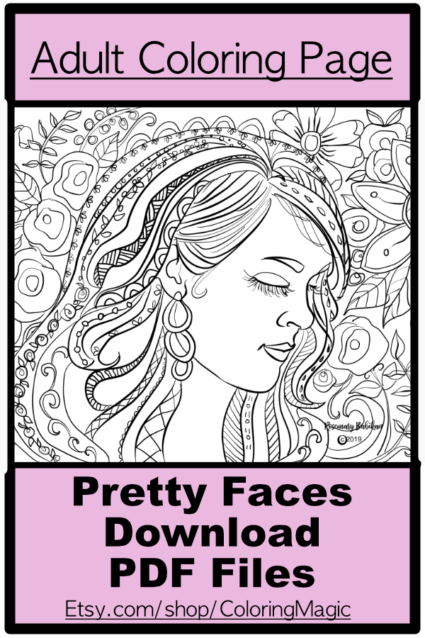"Adult Coloring Page ""Carrie"""
