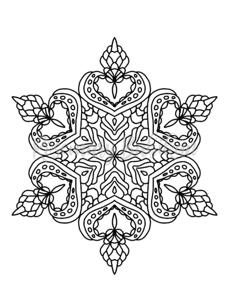Adult Coloring Page of a Mandala for calm coloring