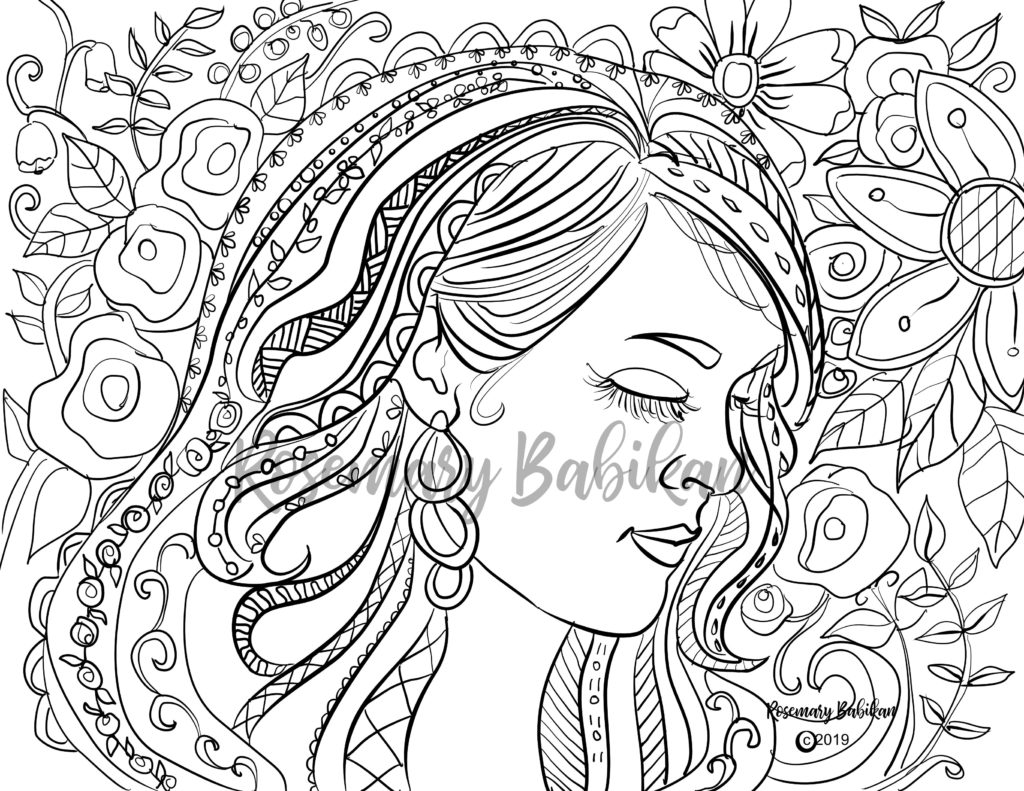 Adult Coloring Carrie inspired by Carrie Underwood