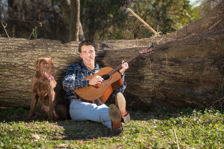 A senior session with his dog
