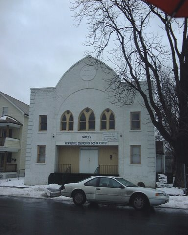 """""""Russiche Shul"""", 1924 Sons of Israel, 1321 Dwight St. North End Springfield. (Now a church)"""