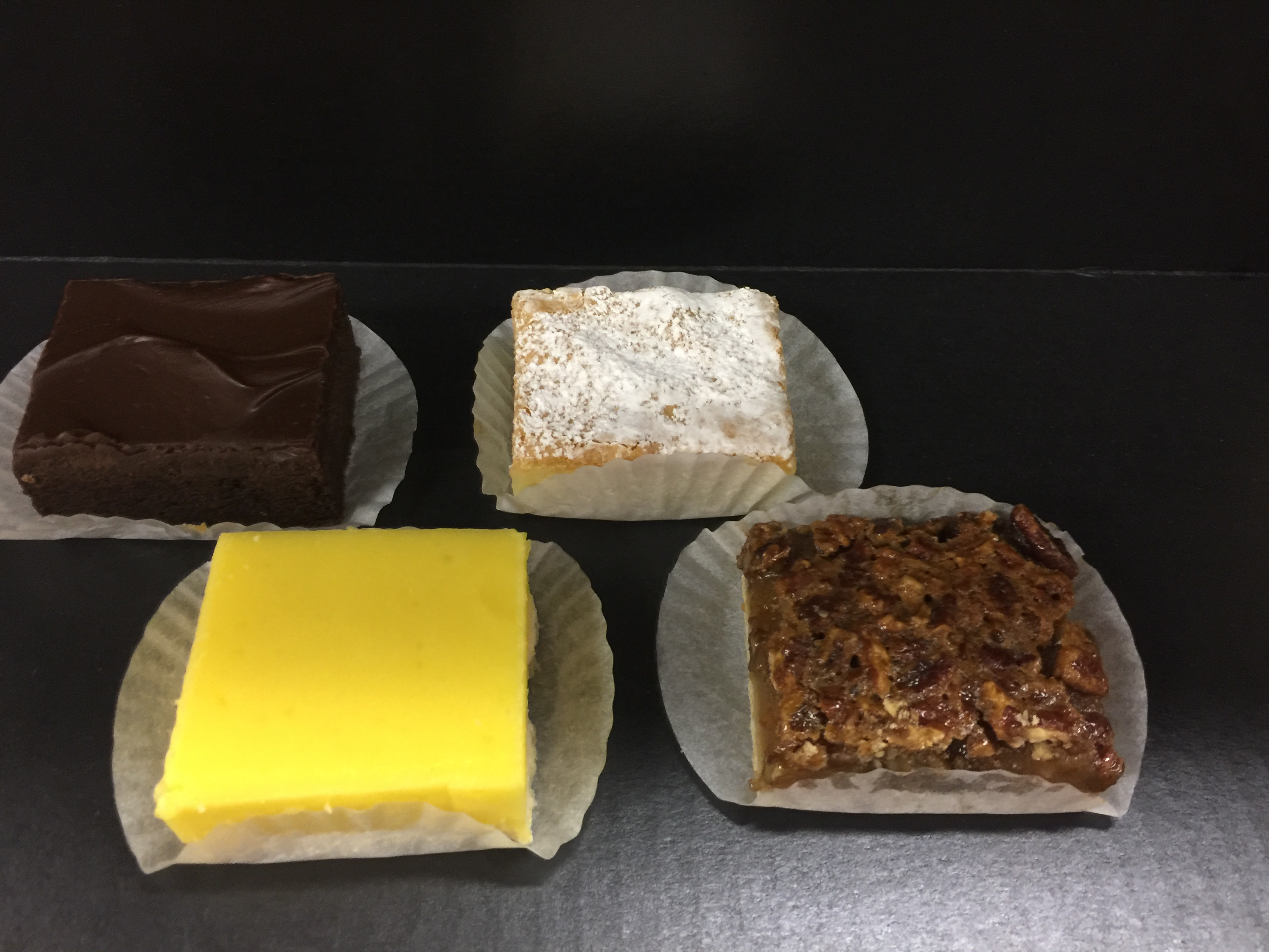 Assorted pastry bars