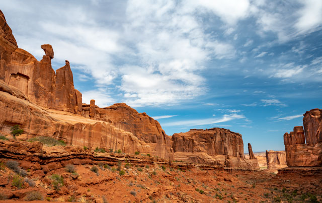 Park Avenue, Arches National Park.