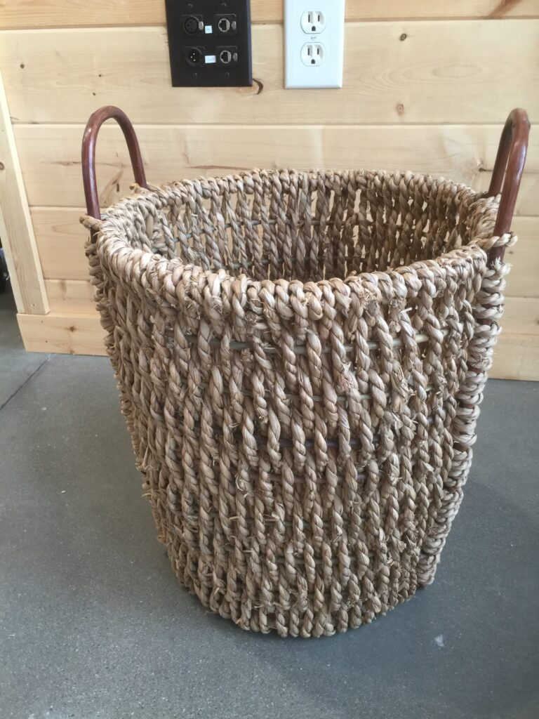 Wicker Basket: $10