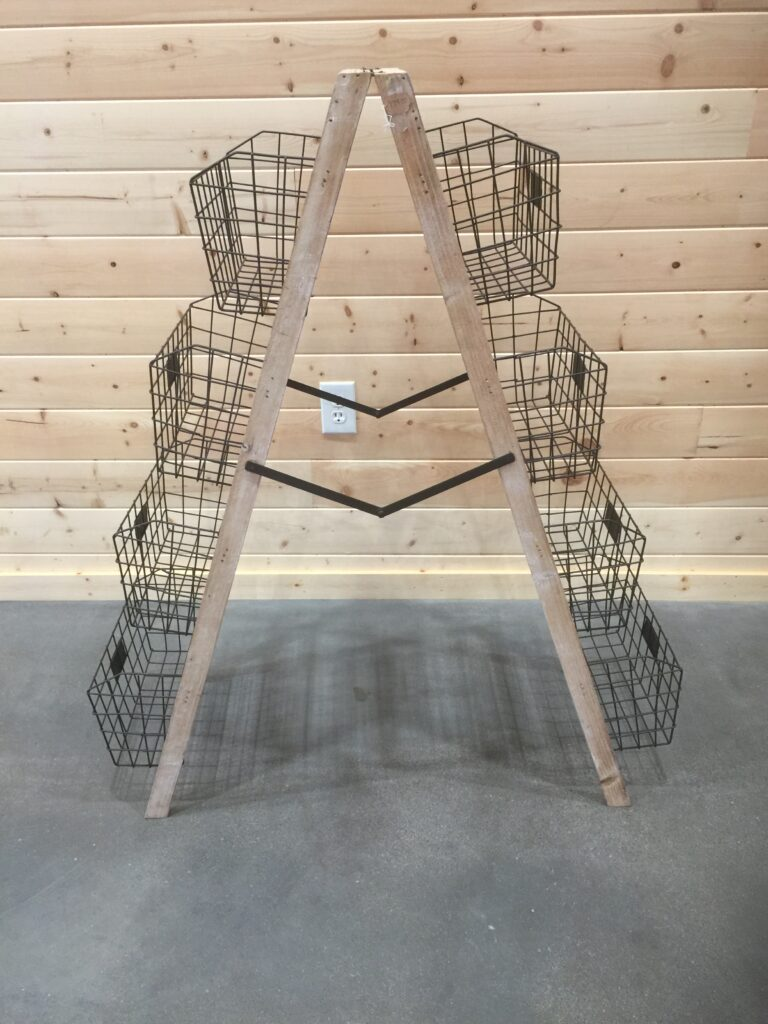 Ladder with Baskets: $25