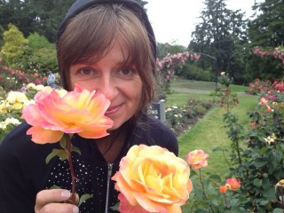 frances at portland rose garden 2012