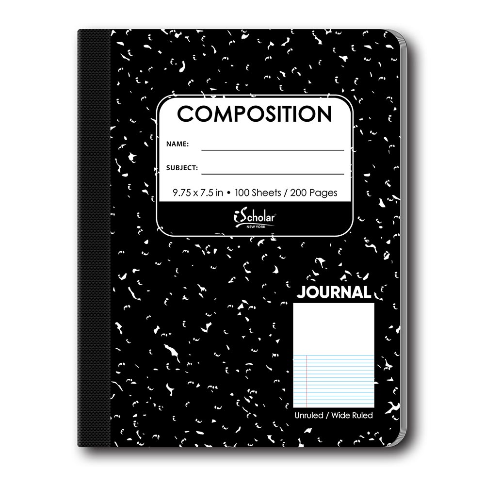 Journal Composition Notebook- Unruled/ Wide Ruled 10114