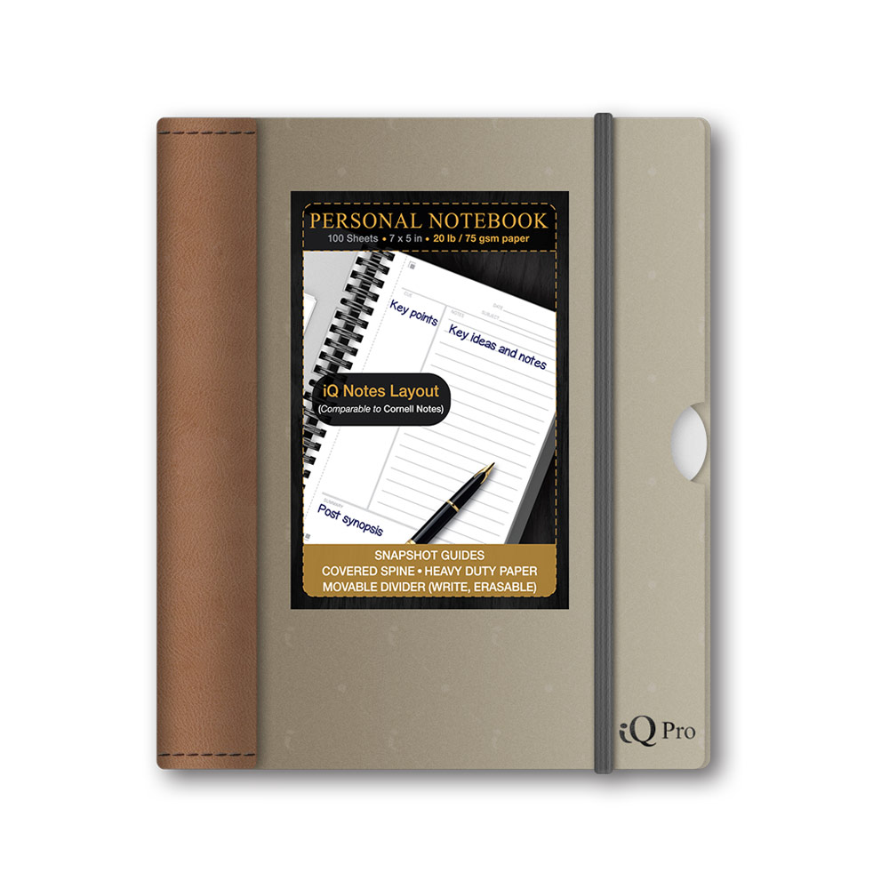 iQ Pro Personal Premium Poly Cover Notebook 7x5in 55075