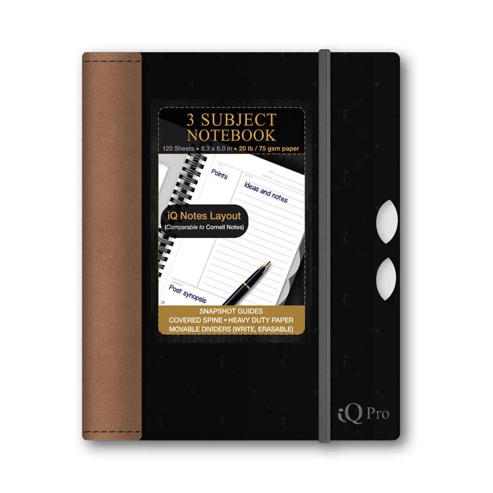 iQ Pro 3 Subject Poly Cover Notebook 8.3x6in 55860