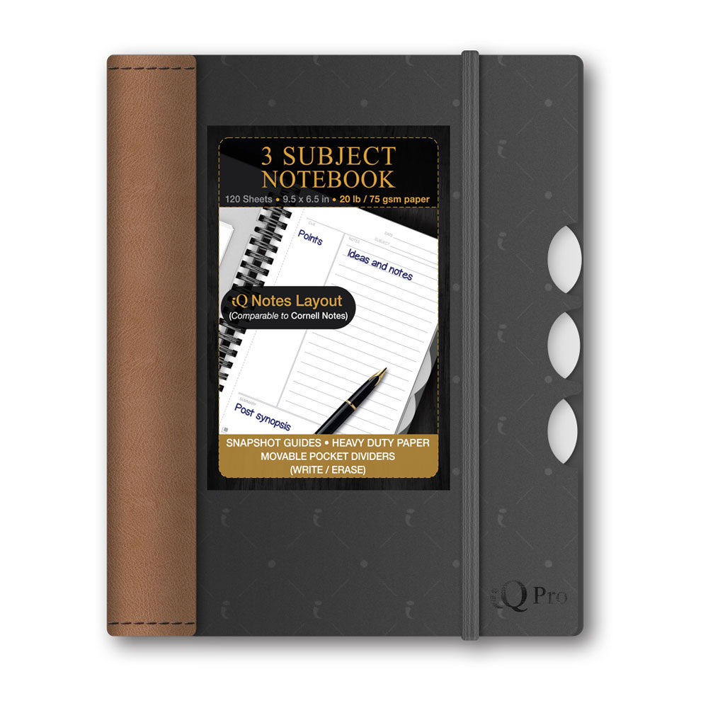 iQ Pro 3 Subject Poly Cover Notebook 9.5×6.5in 56103