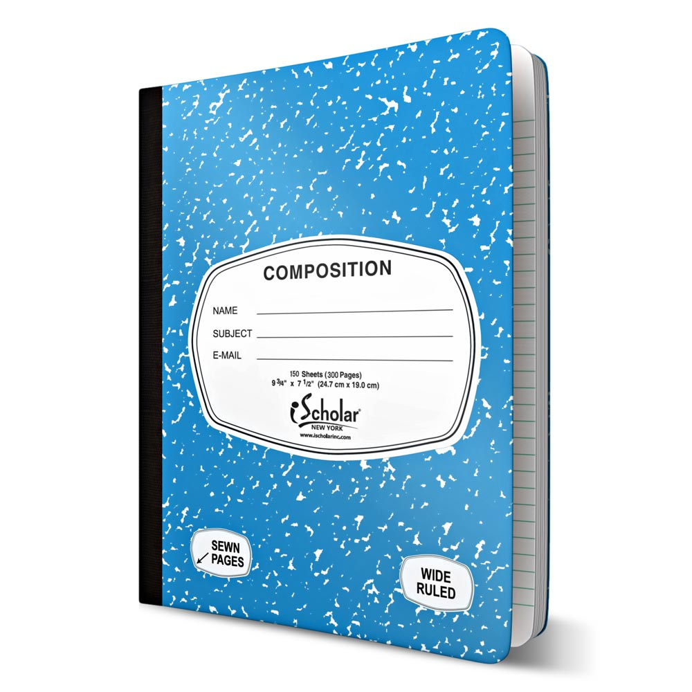 Color Composition Notebook Wide Ruled 150 Sheets 10151