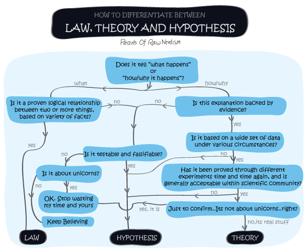 How To Differentiate Between Law, Theory and Hypothesis