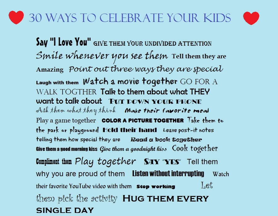 Ways to love your kids