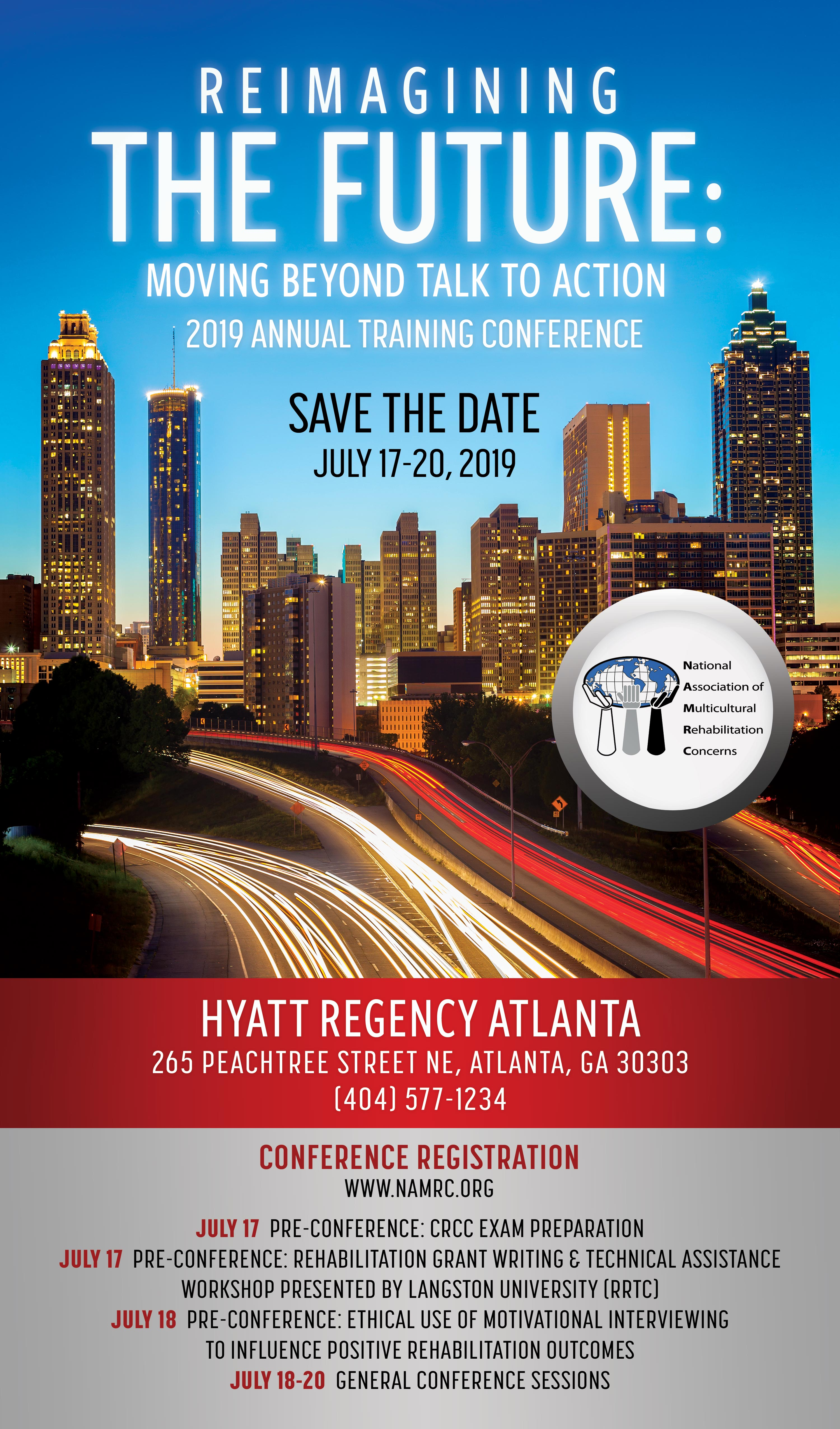 namrc 2019 save the date flyer