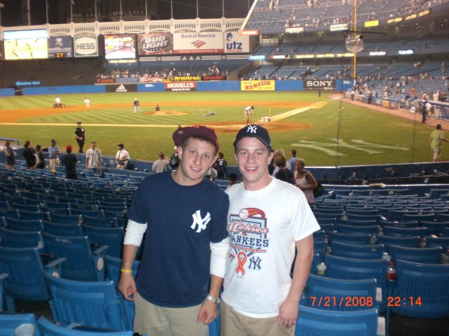 Zak Kurtz at Yankee Stadium