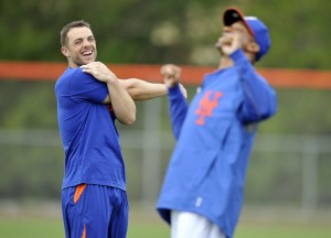 New York Mets third baseman David Wright (left) remains dedicated to his agents at ACES Baseball. Credit: Brad Barr-USA TODAY Sports