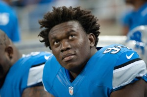 Detroit Lions defensive end Ezekiel Ansah (94) during the first quarter against the Minnesota Vikings at Ford Field. Mandatory Credit: Tim Fuller-USA TODAY Sports