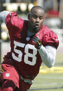 Free agent LB Junior Galette has signed with Rosenhaus Sports. Photo via roanoke.com.