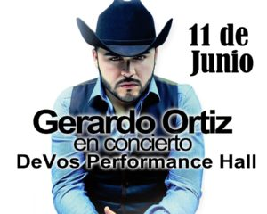Gerardo Ortiz Ready to Bring Mexican Music at the Fourth Annual Latin Music Concert 2016