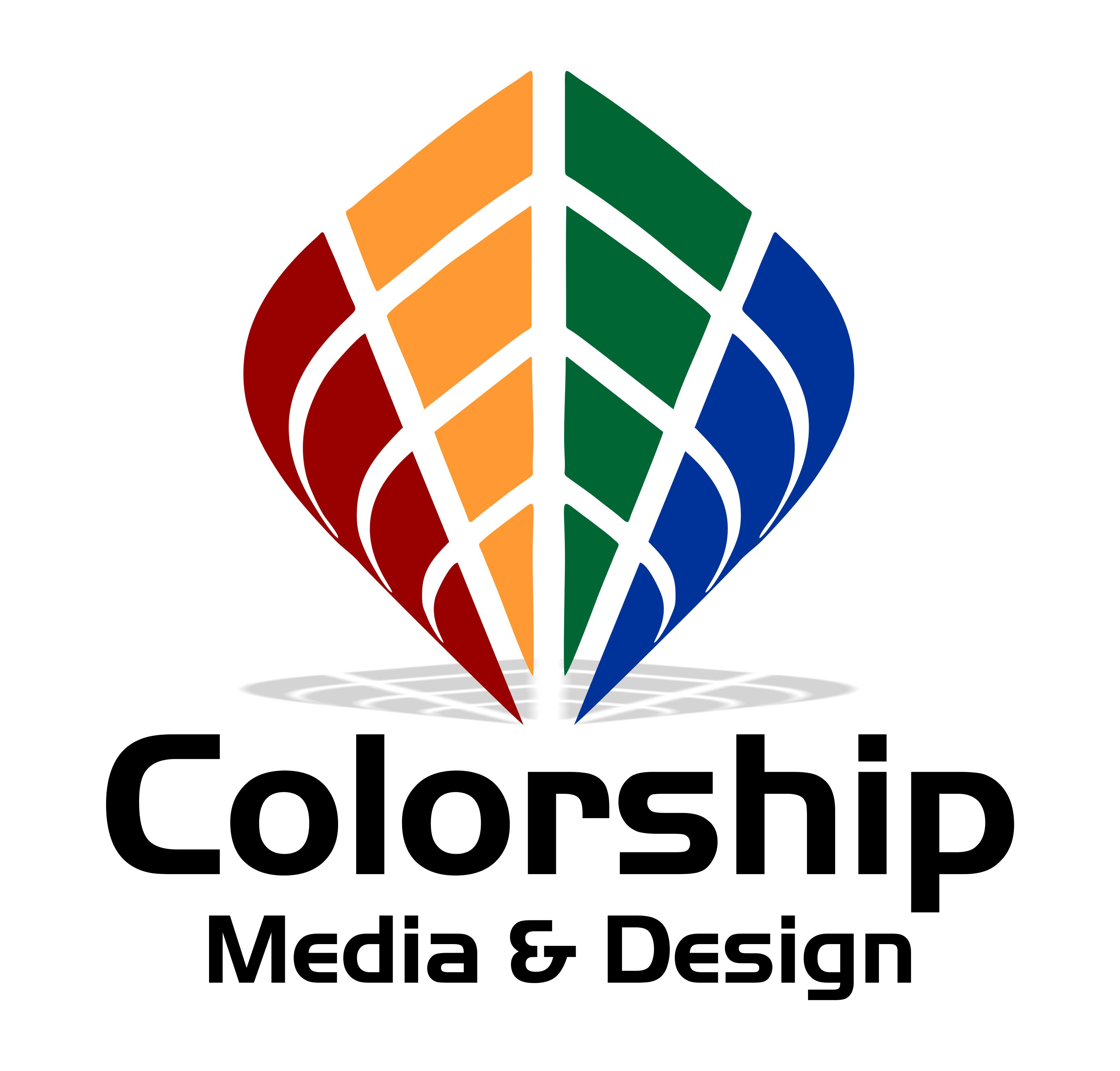 Colorship Media and Design Logo Large